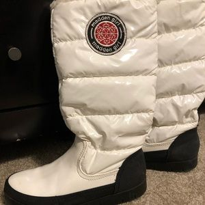 White Madden Girl Puffer Snow Boots
